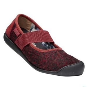 KEEN Sienna Wool Mary Jane Flats Fired Brick Red